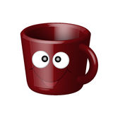 Smiling cup vector illustration
