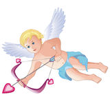 Smiling cupid isolated Stock Photography