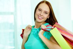 Smiling customer Royalty Free Stock Photos