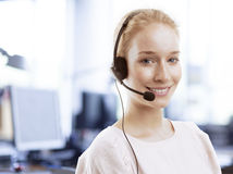 Smiling Customer Representative Royalty Free Stock Photography