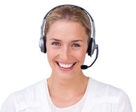 Smiling customer service agent Stock Photography