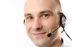 Smiling customer service agent Stock Image