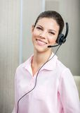 Smiling Customer Service Agent Wearing Headset In Stock Images