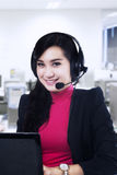 Smiling customer service Royalty Free Stock Image