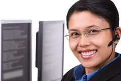 Smiling customer service (hori Stock Photography