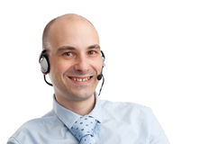 Smiling customer service operator Royalty Free Stock Images