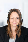 Smiling Customer Service Operator Royalty Free Stock Photography
