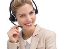 Smiling customer service operator Stock Image