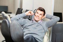 Smiling Customer Service Representative Adjusting Stock Images
