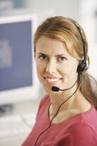 Smiling Customer Service Representative Stock Image