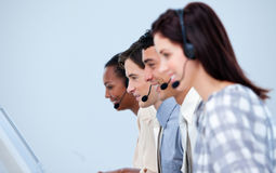 Smiling customer service representatives Royalty Free Stock Photos
