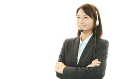 Smiling customer services operator Royalty Free Stock Photography