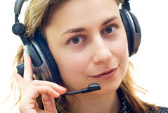 Smiling customer support Royalty Free Stock Photos