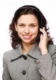 Smiling customer support operator Stock Photography