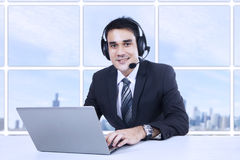 Smiling customer support Stock Photos