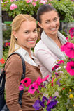 Smiling customer women in garden center Stock Photography