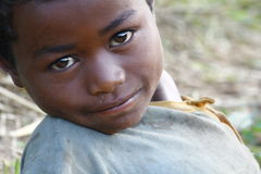 Smiling cute african boy with beautiful face Stock Images