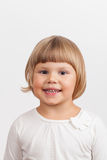Smiling Cute Caucasian little girl, closeup portrait Stock Photo