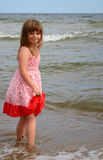 Smiling cute girl in water Royalty Free Stock Images