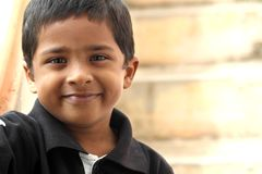 Smiling Cute Indian Boy Stock Images