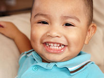 Smiling cute little boy smiling Royalty Free Stock Images