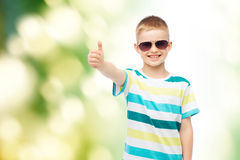 Smiling cute little boy in sunglasses Stock Image