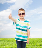 Smiling cute little boy in sunglasses Royalty Free Stock Photo