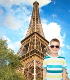 Smiling cute little boy in sunglasses Stock Photography