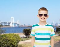 Smiling cute little boy in sunglasses Royalty Free Stock Photography