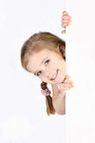 Smiling cute little girl isolated Stock Photography