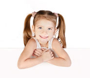 Smiling cute little girl isolated Royalty Free Stock Photo