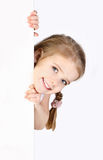 Smiling cute little girl isolated Royalty Free Stock Photography