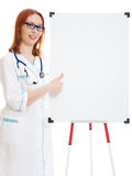Smiling cute medical doctor woman Royalty Free Stock Photos