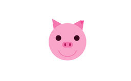Smiling cute pig, animal illustration Royalty Free Stock Images