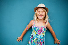 Smiling cute young girl Stock Photo
