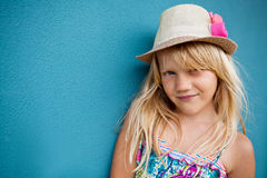 Smiling cute young girl Royalty Free Stock Photos