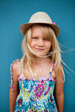 Smiling cute young girl Stock Photos