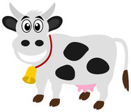 A smiling dairy cow. Illustration Stock Photo