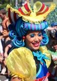 A smiling and dancing street performer at Disneyworld Stock Photos