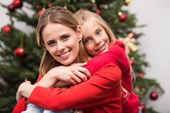 Daughter and mother stock images