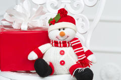 Smiling decorative snowman Stock Images