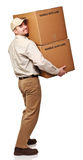 Smiling delivery man Royalty Free Stock Photo