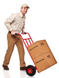 Smiling delivery man Stock Images