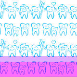 Smiling dental symbols Royalty Free Stock Image