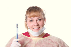 Smiling dentist Stock Image