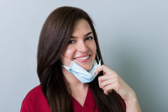 Smiling dentist woman. As beautiful dental concept stock photos