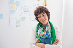 Smiling designer with arms folded Royalty Free Stock Image