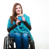 Smiling disabled lady. Stock Image
