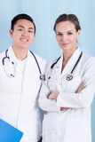 Smiling diverse doctors Royalty Free Stock Photos
