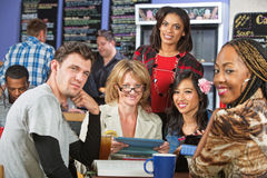Smiling Diverse Students Royalty Free Stock Image